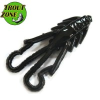 "Мягкие приманки Trout Zone Nymph 1.6"" Black (сыр)"