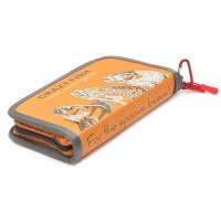 Кошелек для блесен Crazy Fish Spoon Case Large #orange 130x200x30mm