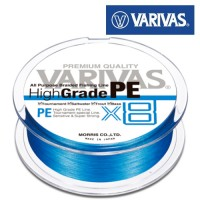 Шнур Varivas High Grade PE X8 Blue #1.0 150m 0.165mm 9kg